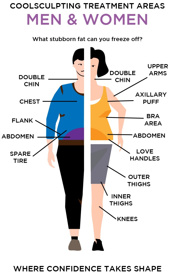CoolSculpting Treatment Areas Image